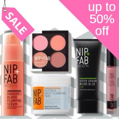 Up to 50% off Nip + Fab