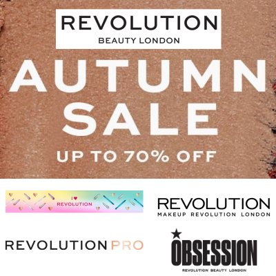 up to 70% off Revolution Beauty Autumn Sale