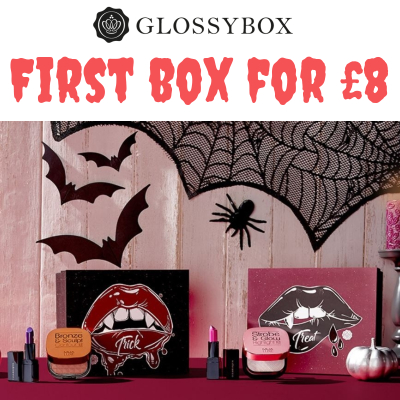 Trick or Treat glossies - 20% off your first Glossybox
