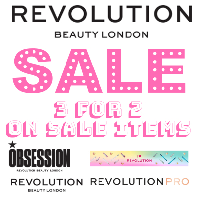3 for 2 on Revolution Sale Items