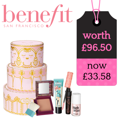 15% off Benefit - includes Holiday 2018 Crimbo Sets