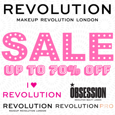 up to 70% off Revolution Beauty Sale