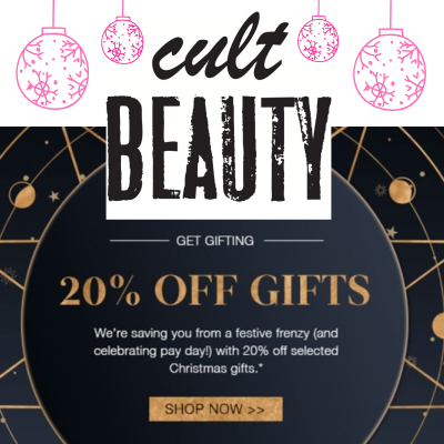 20% off selected Christmas gifts