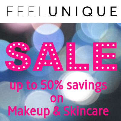 Up to 50% off sale at Feelunique on Makeup & Skincare