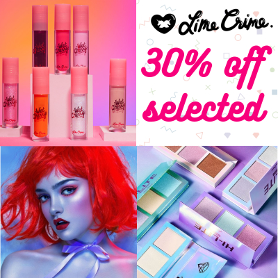 30% off selected Lime Crime