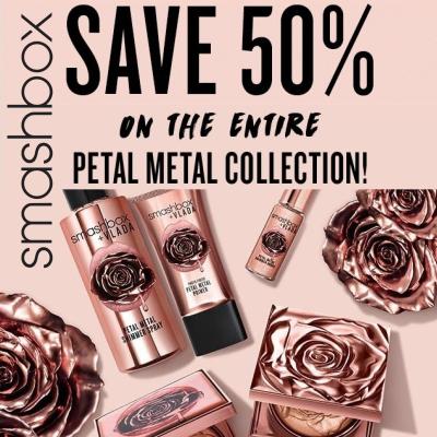 50% off Smashbox Petal Metal Collection