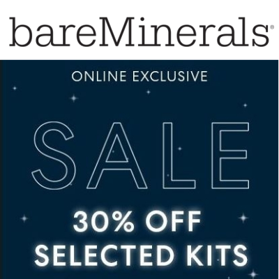 bareMinerals winter sale - 30% off selected kits