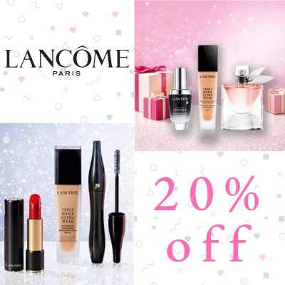20% off everything at Lancome