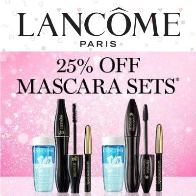 25% off Lancome Mascara Sets